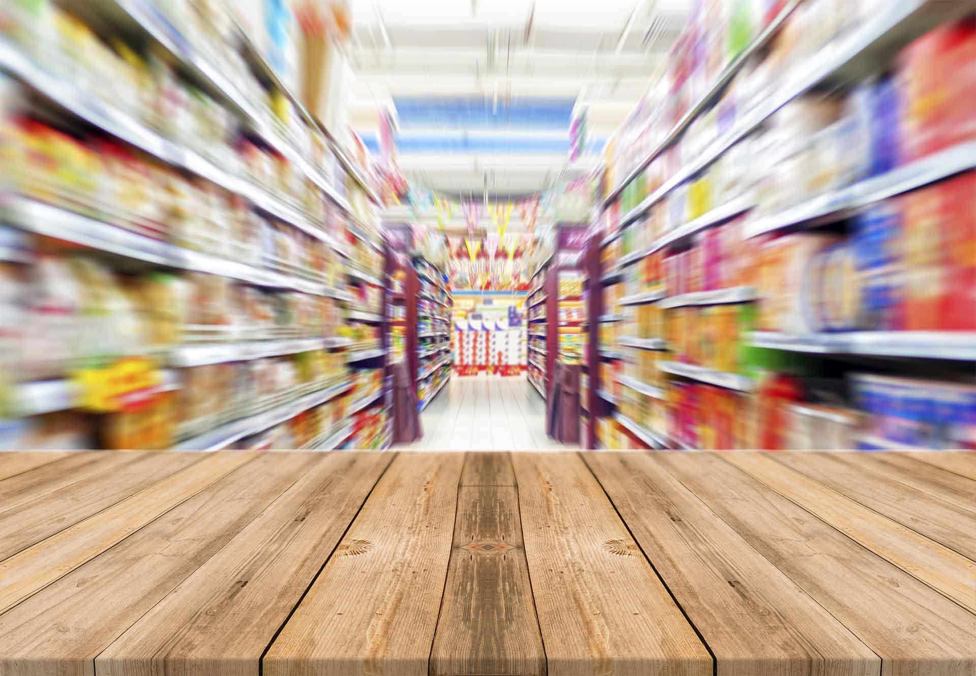 Fundo de super mercado | Etiquetas para Productos